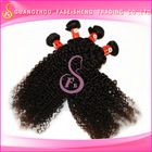 2014 popular wholesale virgin long curly clip in hair extension