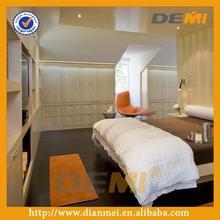 high class villa bedroom furniture simple design melamine 2 folding door wardrobe with big drawers