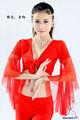 Rojo swegal danza del vientre tops, del vientre dacne superior de formación, cordón de baile sgbdb13089 disfraces