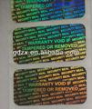 sello de seguridad de holograma evidente manipulación de garantía etiquetas void pegatinas