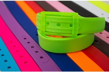 2014 Fashion Design Colorful Plastic Candy Golf Belts with Changeable Buckle
