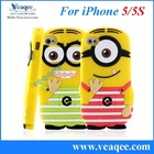 for iphone 5 minions silicone phone case