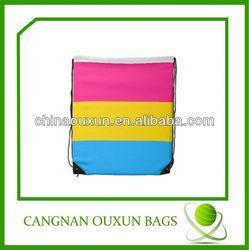 eco-friendly customized nylon drawstring back pack bag