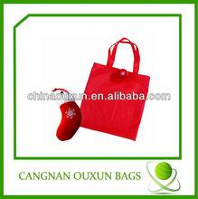 eco-friendly customized nylon drawstring christmas gift bag