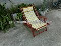 En bois meubles de patio chaise de plage