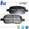 High performance Used cars dubai Buick spare parts China brake pads D1093