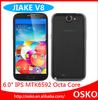 2GB RAM android 4.2 MTK6592 Cortex A7 octa core 1.7GHz 6 inch big screen dual sim mobile phones