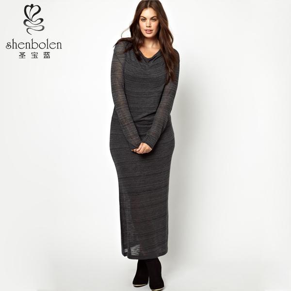 Brilliant Chiffon Plus Size Dress High Quality Kint Inside Layer Fat