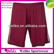 Russia red football sliding short pant soccer jersey shorts sports football training shorts