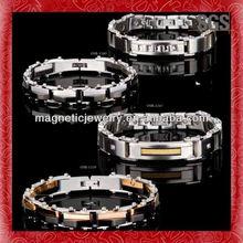 Custom design line engraved unique design mens chain bracelets