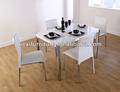 Dt-8120 de acero inoxidable mesa de comedor y sillas