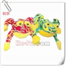 coppia colorato morbido peluche rana farcito anfibi giocattolo animale