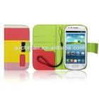 Multi color wallet leather case for Samsung Galaxy S3 mini colorida fundas para celulares