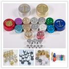 medical glass vial/bottle packing coloured 13mm/20mm/32mmaluminium caps for glass bottles