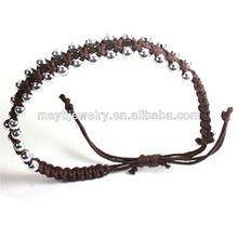 The Modern Brown Leather Bracelet Wrist Cuff Band Hippie Hawaii leather bracele Dub Ras Reggae Marley RGY