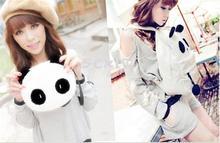 2014 New Women's Korean Lovely White Panda Backpack