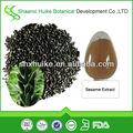 natural de semillas de sésamo negro extracto en polvo