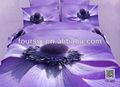 2014 3d sıcak satış büyük çiçek tasarım yatak seti, toptan 4 adet 100% pamuk reaktif dimi baskılı yatak