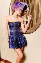 new fashion purple beautiful lace up corset top lace wedding dress patterns