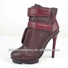 Newest fancy warm snow winter boots high heel woman warm snow boots