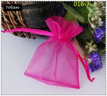 chirstmas organza wine bag