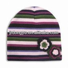 knit children hat with flower