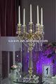 Central do casamento candelabro de ouro com brilhantes pendurar cristal zt-107g-2