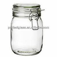 50ml- 1000ml swing top glass storage jar/clip top glass jar/decorative glass storage jars
