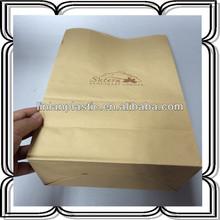 heat seal printed brown kraft paper bag packaging