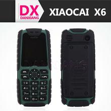 Xiaocai X6 cell phone Dual SIM Card Classic button Mobile Phone 5000mAh Portable Power Bank 1.8 Inch Waterproof Smartphone