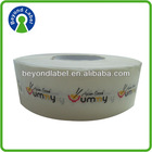 Printing roll self adhesive sticker label,waterproof roll food packing adhesive label