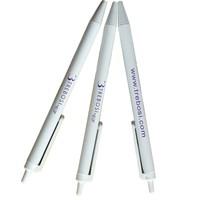 2015 For Office Advertising Promotional Custom White Plastic Pen