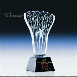 Jingrui crystal badminton trophy, sports award JA375