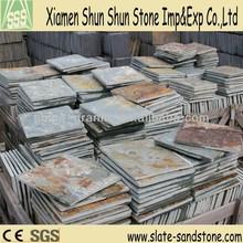 Popular natural rusty slate for flooring