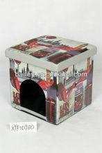 pet house folding storage ottoman