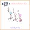 Popular new dice style!!!body piercing jewelry, fashion dangling navel ring