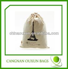 Stylish handmade great cotton gym sack drawstring bag