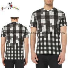 2014 Factory Summer Fashion Wholesale Men Tartan T-shirt