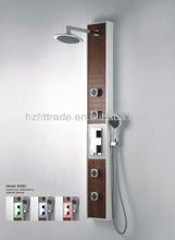 Bamboo shower column bamboo led shower panel HTB3801