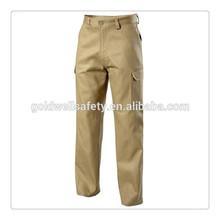 khaki six pocket business uniform carton pants