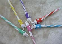 2014 wholesale cute novelty design pretty long leg rabbit shape ball pen 0.5mm