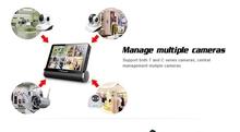 Manage multiple cameras wireless upgraded version dvr wifi Network Video Server h 264 network dvr software