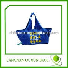 2014 high popular polyester cute foldable shopping bag