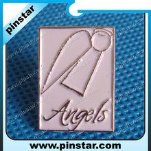Roughly simple Angels design enamel lapel pin badge custom
