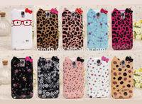 Cute Cartoon Bowknot Cat soft TPU case cover for Samsung Galaxy Note 3 III N9000