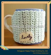 2014 Fashion custom coffee cup knit sleeve,set,cover