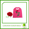 2014 high popular nylon rose reusable foldable shopping bag