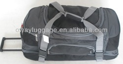 yiwu stock quality rolling duffel bag trolley duffel bag