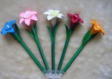 2014 wholesale cute novelty design pretty daffodil shape ball pen 0.5mm