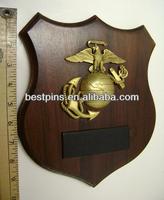 US marine insignia award metal plaque, high 3D america earth map trophy plaque